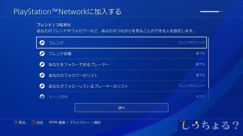 PS4フレンド設定