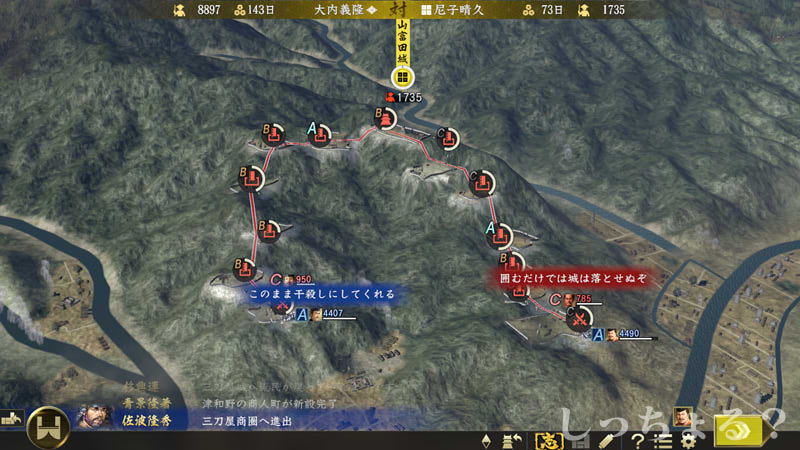 月山富田城包囲戦
