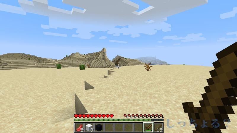 一砂マイクラ北側の砂漠