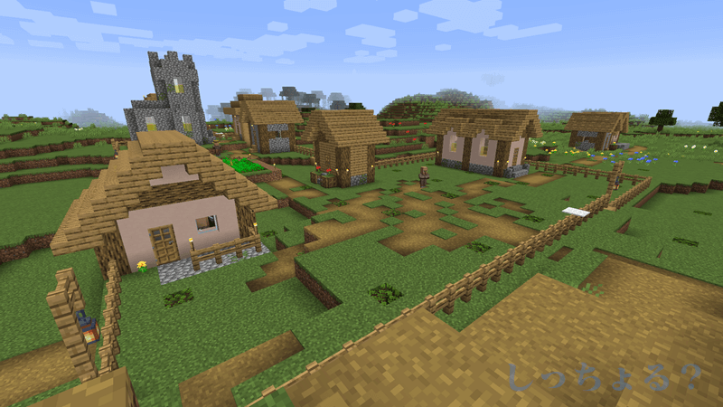 一砂Minecraft村の防衛