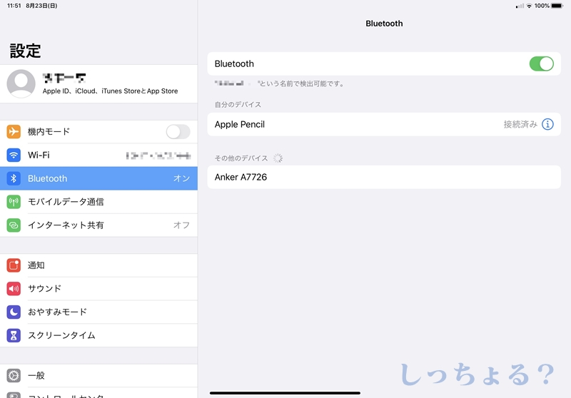 iPad Bluetooth設定